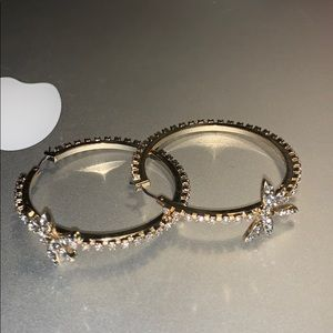 Betsey Johnson dragonfly crystal earrings